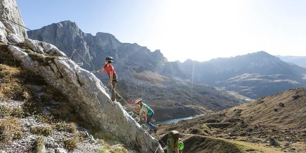 Familien-Klettersteig Partnunblick