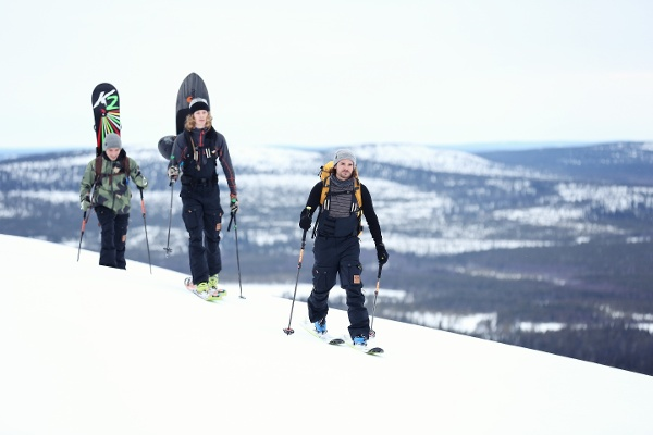 Out in the snowy landscape of Finland with Ski and Snowboard