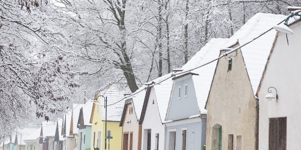 Ahrenberger Kellergasse im Winter