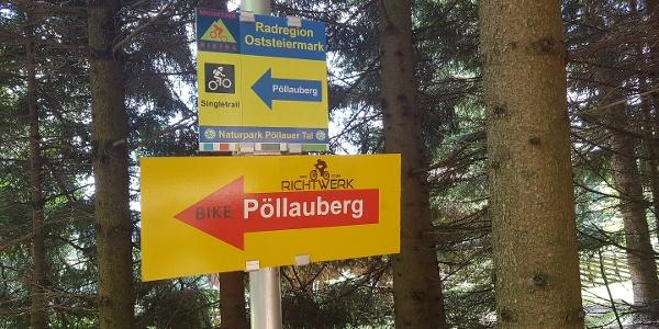 Wegweiser: Mounatinbike: Rundwanderung: Pöllauberg - Masenberg - Schwaig - Pöllauberg