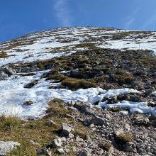 Blick beim Aufstieg auf den Schneibstein