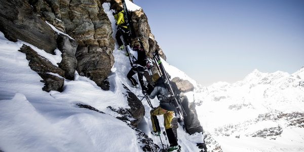 On the via ferrata in rock, ice and snow