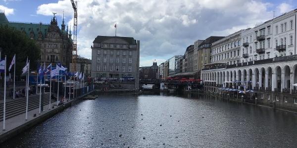 Schleifenroute - Hamburg Alsterarkarden