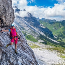Der Klettersteig ist zu jeder Zeit super abgesichert und macht total viel Spaß.