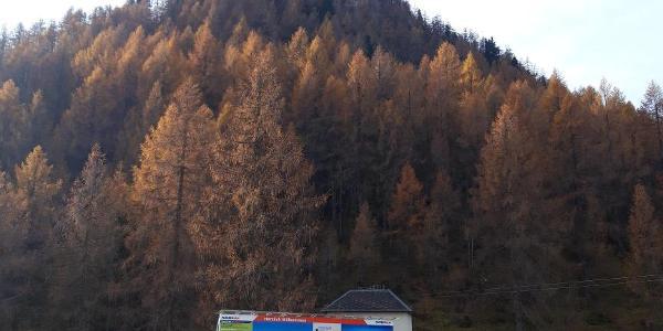 Blick von der Wurzeralm Bergstation auf das Tagesziel