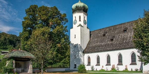 Die Herz Jesu Kirche in Bischofswiesen