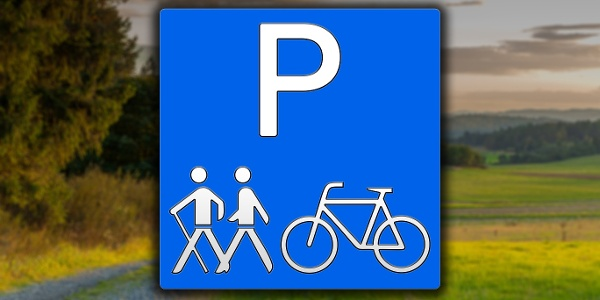 Rad- und Wanderparkplatz in der Region Edersee