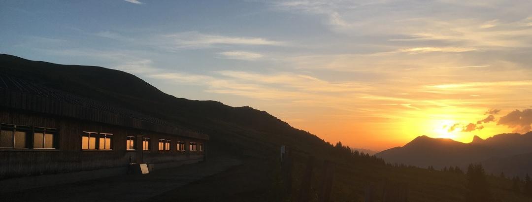Abendstimmung auf der Alp Valpun