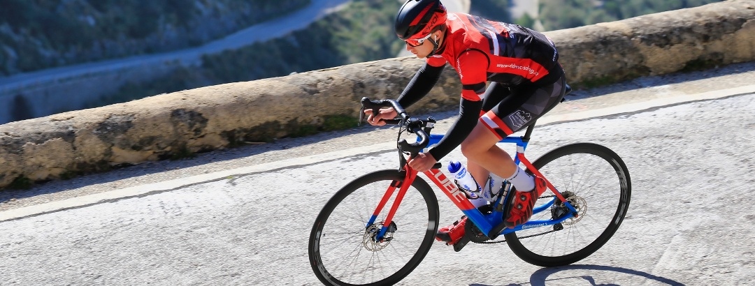 Con la bicicleta de carretera en Mallorca