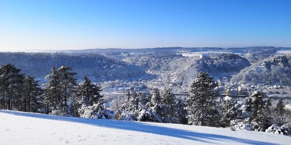 Ausblick auf das winterliche Riedenburg