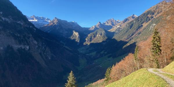 beim Aufstieg auf die Alp Furggelen