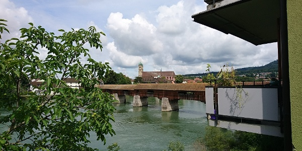 Holzbrücke bei Stein