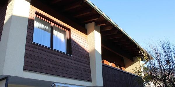 Aussenansicht Fewo Bergjuwel Osten mit Balkon