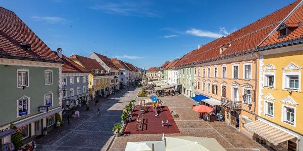 Start in der Altstadt von St. Veit