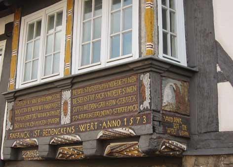 Hausinschriften in Stadthagen