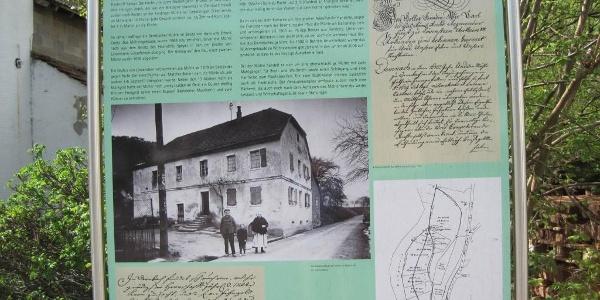 Infotafel an der Dernbacher Mühle