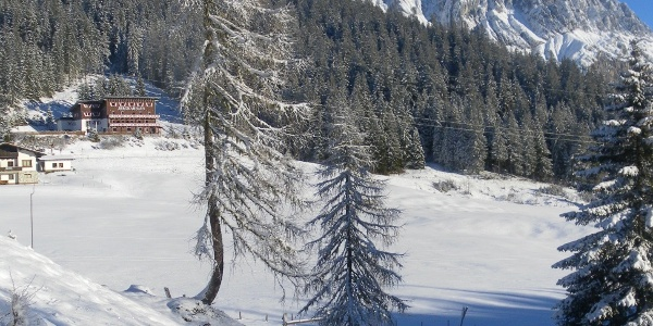Dientner Sattel vor Hochkönig Südwand