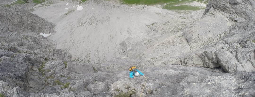 Alpinklettern an der Fuchskarspitze