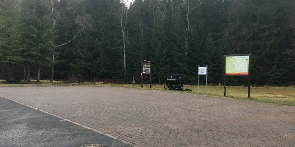 Parkplatz am Besucherbergwerk