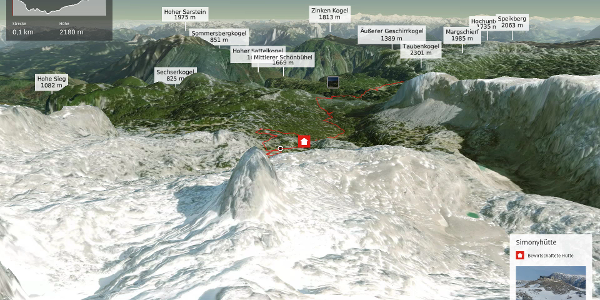Bergtour im Dachstein-Gebirge: Dachsteinhüttenrunde Etappe 3: Simonyhütte - Guttenberghaus