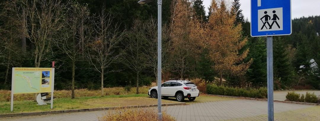 Parkplatz für Wanderer Waldbärenburg