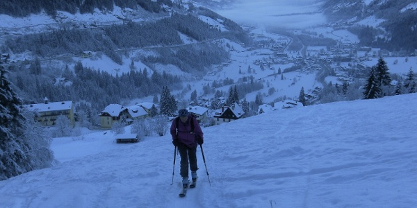 Start in Bad Gastein an denr Graukogelpisten
