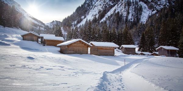 Winterlandschaft Partenen