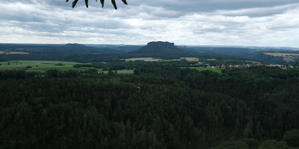 Aussicht vom Brand zum Lilienstein