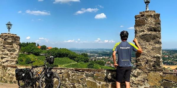 Blick von der Burg Deutschlandsberg ins Schilcherland