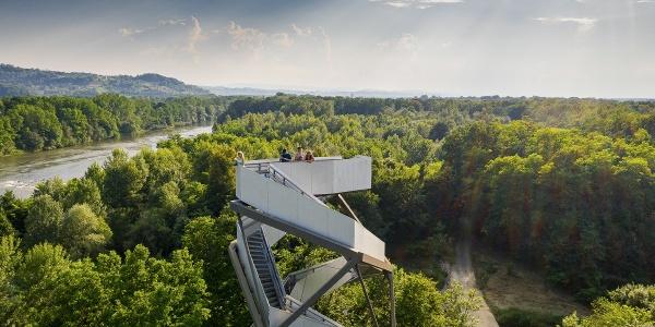 Blick auf den Murturm im UNESCO Biosphärenpark