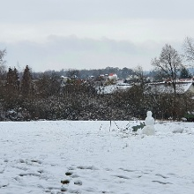Der Schnee motoviert so einige zum zeigen ihrer Baukunst