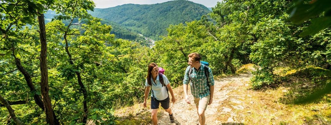 Wanderung auf dem Premiumwanderweg HöhenLuft im Lahntal