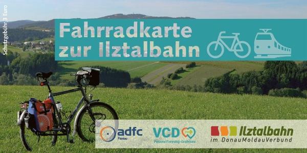 ADFC / VCD - Fahrradkarte zur Ilztalbahn (Ausgabe 2018)