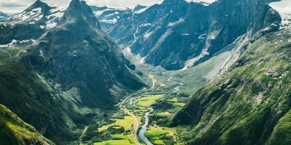 View of Romsdalshorn and Trollveggen.