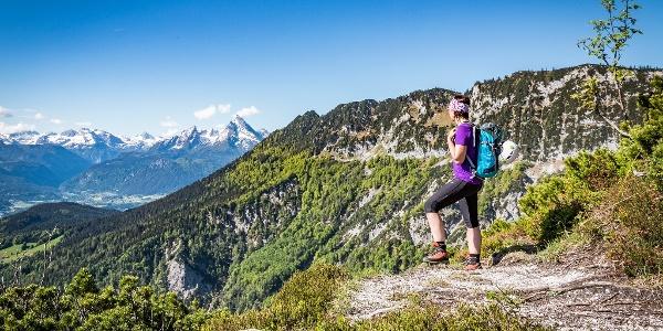 Aussicht vom Untersberg zum Watzmann