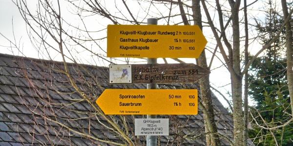 Kreuzungspunkt GH Klugveitl