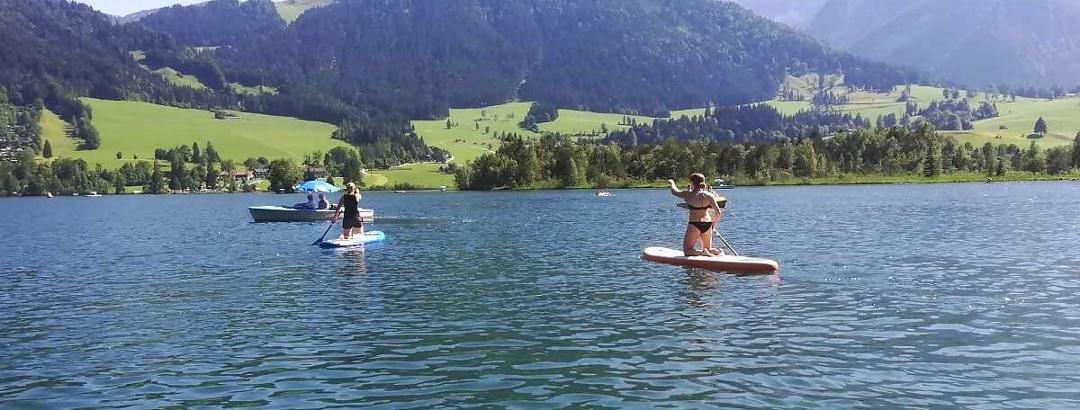 Badespaß am Walchsee im Kaiserwinkl