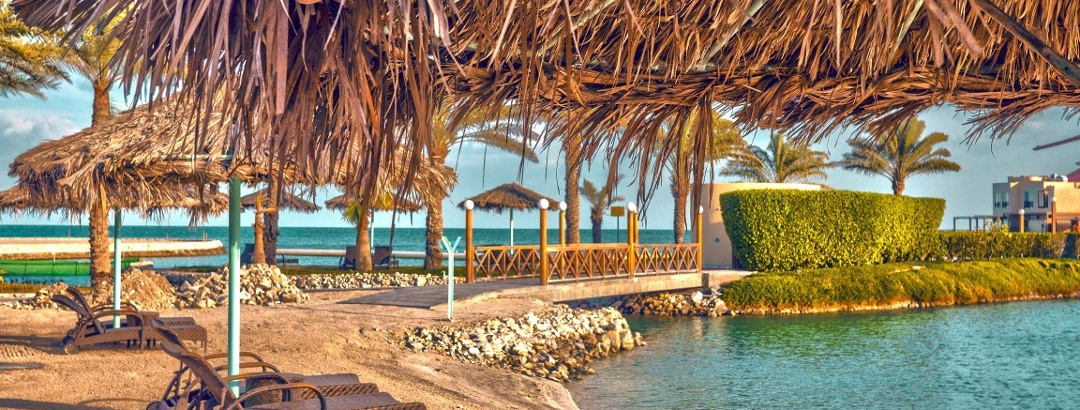 Strand in einem Resort, Bahrain