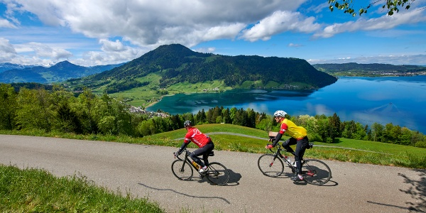 Biketour Morgartenberg mit Blick aufs Ägerital