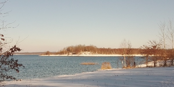 Winter am Berzdorfer See, Görlitz