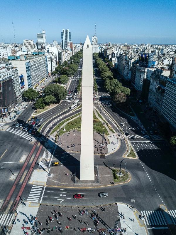 Obelisk on 9 de Julio Avenue, Buenos Aires, Argentina