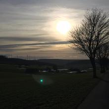 Sonnenuntergangs-Stimmung