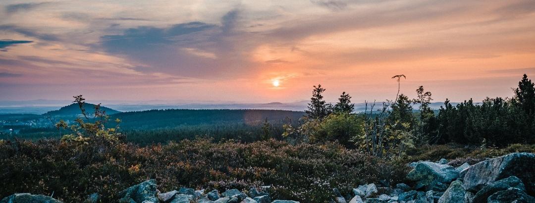Sonnenaufgang auf dem Kahleberg
