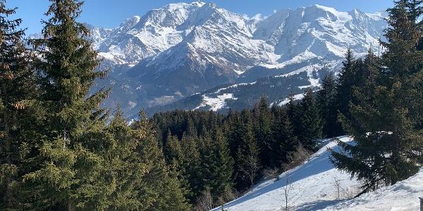 Arrivée au sommet des monts Rosset
