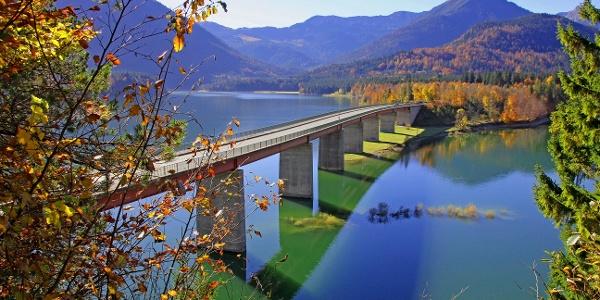 Sylvenstein-Speicher - Brücke