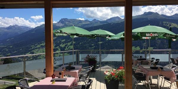 Aussicht von der Terrasse Restaurant Güggelstein