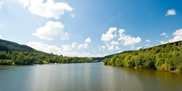Blick auf den Kronenburger See