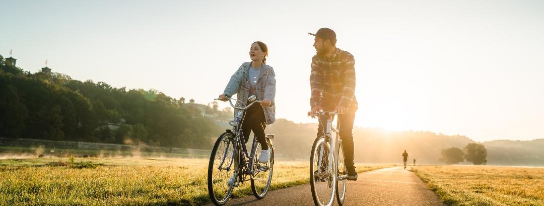 Rad fahren am Elberadweg