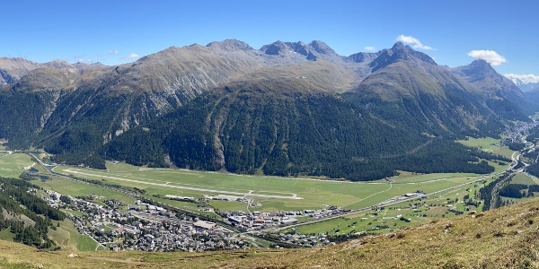 view of Engadin valley