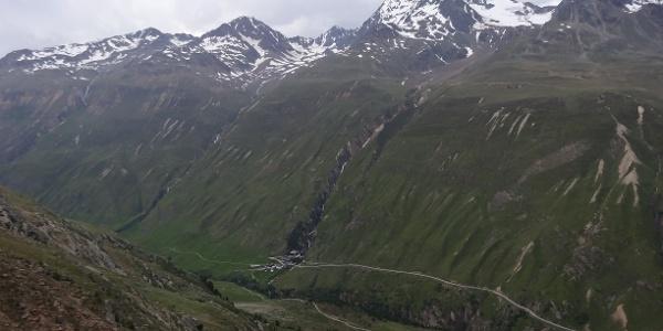 Blick vom Hörnle nach Rofen und zur Wildspitze